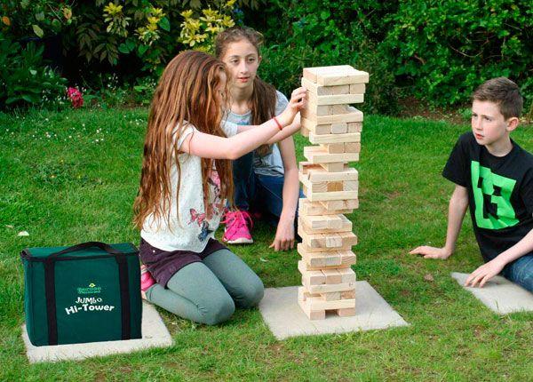 juego de torre de madera