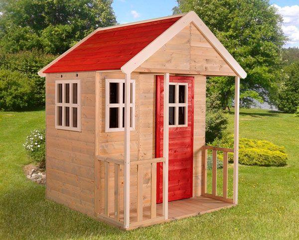 casita madera con balcón