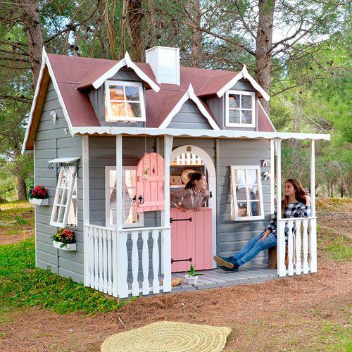 casita madera porche