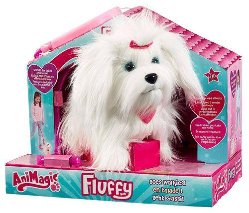 Peluche Interactivo Fluffy Paseos, de Animagic
